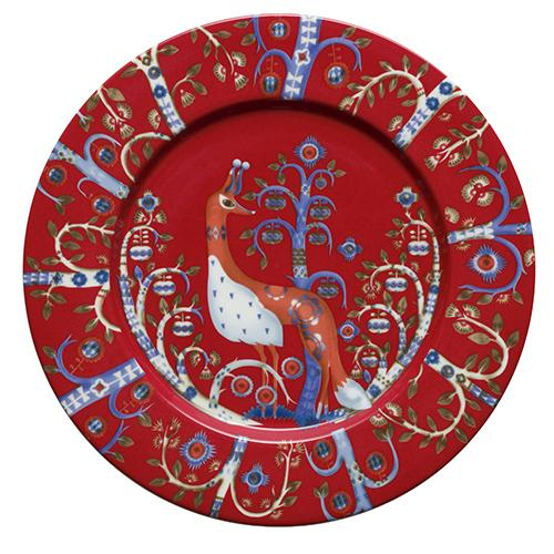 Taika Red Salad Plate by Iittala