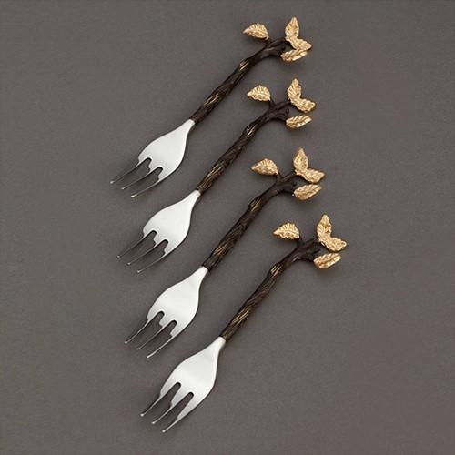 Mullbrae Cocktail Forks, Set of 4 by L'Objet