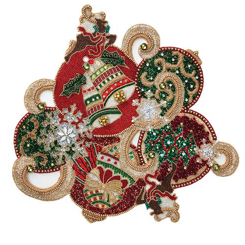 Xmas Baubles Placemat, set of 2 by Kim Seybert