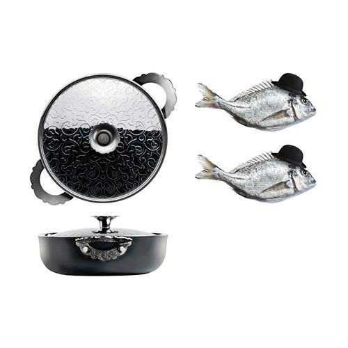 "Dressed 9.5"" Non-Stick Low Casserole Offer by Marcel Wanders for Alessi"