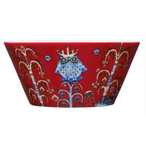 Taika Red Pasta Bowl by Iittala