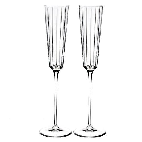 Avenue Champagne Flutes, Set of 2 by Rogaska 1665