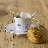 Blue Elements High Handled Cup & Saucer by Royal Copenhagen