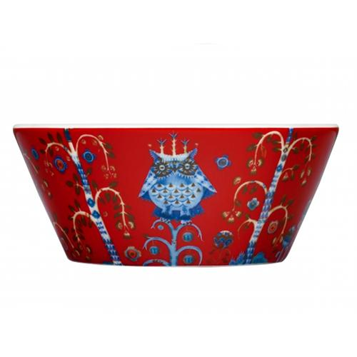 Taika Red Soup or Cereal Bowl by Iittala