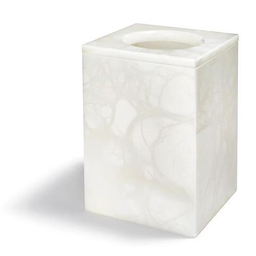 Tessuto Alabaster Waste Paper Basket by ANNA New York