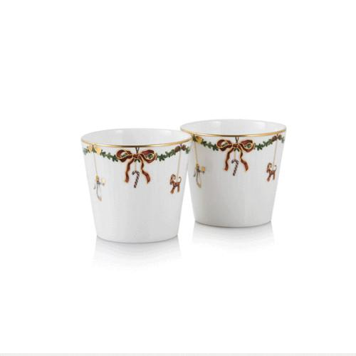 Star Fluted Christmas Multi Purpose Cup, Set of 2 by Royal Copenhagen
