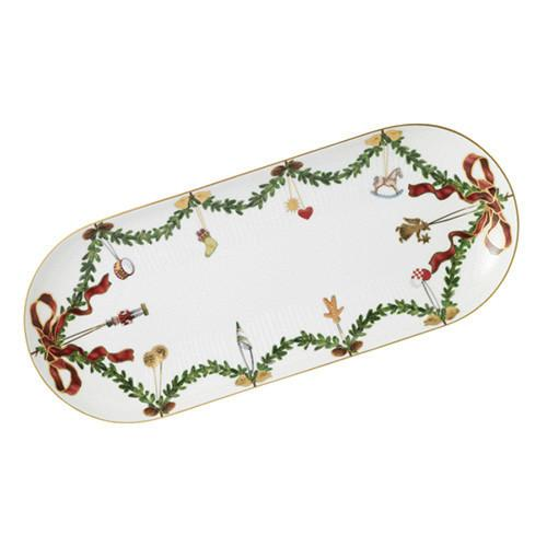Star Fluted Christmas Oblong Platter, Large by Royal Copenhagen