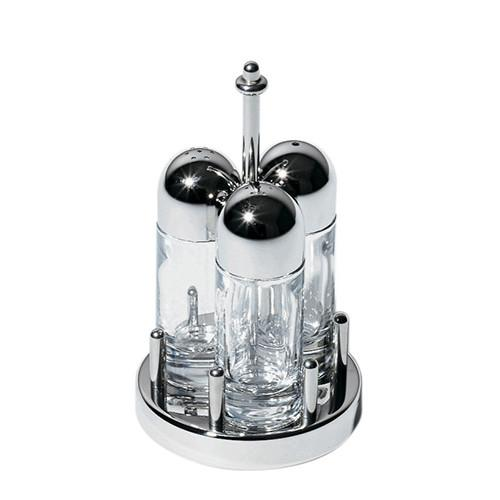 Salt, Pepper and Toothpicks: 5073 Condiment Set by Ettore Sottsass for Alessi