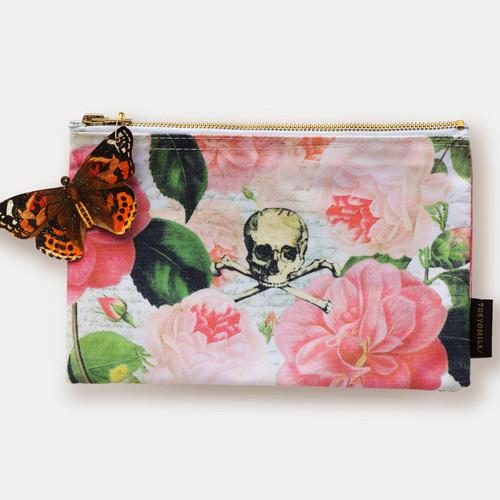 Skull and Roses Cosmetic Bag by Tokyomilk