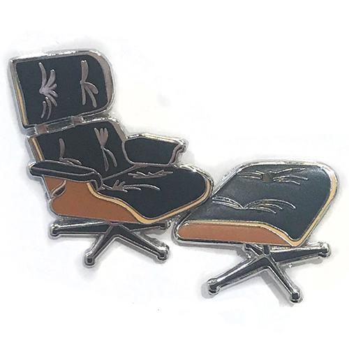 Eames Lounge Chair and Ottoman Pin by Charles & Ray Eames for Acme Studio