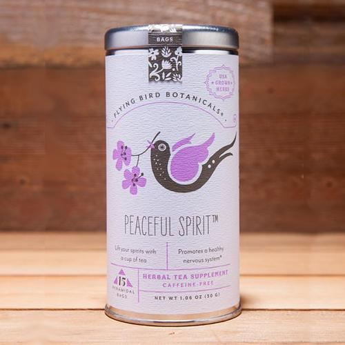 Peaceful Spirit Tea, Tin of 15 Sachets by Flying Bird Botanicals