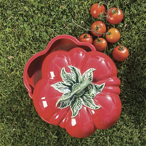 Tomato Bread and Butter Plate by Bordallo Pinheiro