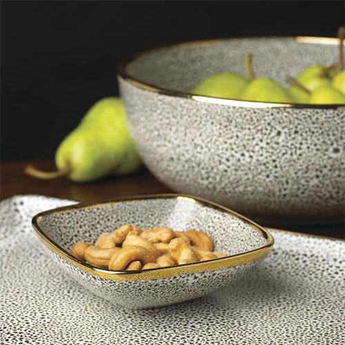 "Panthera Giftware: Platinum Small 4.75"" Bowl by Michael Wainwright"