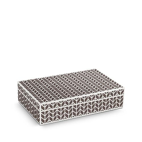 Chevron Rectangular Box by L'Objet
