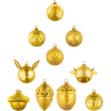 Set of 10 Christmas Ornaments by Alessi