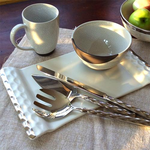 Truro Giftware Platinum Cheese Tray or Platter, 13