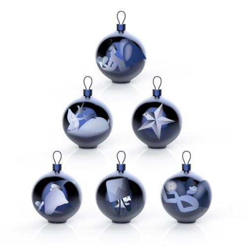 Blue Christmas Tree Ornaments by Alessi