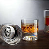 Shade Skull Double Old-Fashioned Whiskey Glasses, Set of 4 by Nude