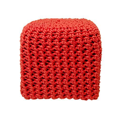 "PO4 Neoprene Rubber 17.6"" Square Pouf by Neo Design Italy"