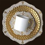 Alencon Gold Espresso Cup & Saucer, Set of 6 by L'Objet