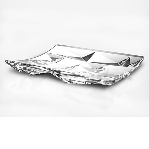 "Crystallization 12.6"" Platter or Centerpiece by Rogaska 1665"