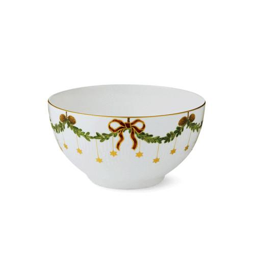 "Star Fluted Christmas Bowl, 8"" by Royal Copenhagen"