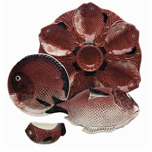 Fish Curved Platter by Bordallo Pinheiro