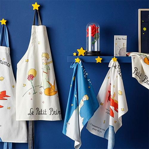 Le Petit Prince The Flower and The Fox Tea Towel