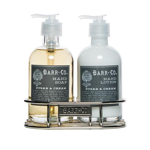 Barr-Co. Soap Shop Sugar & Cream Hand & Body Caddy Set