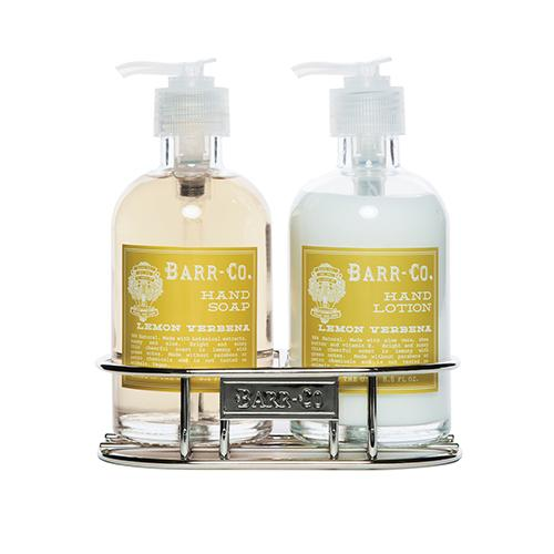 Barr-Co. Soap Shop Lemon Verbena Hand & Body Caddy Set