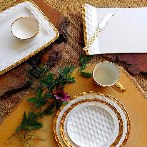 Truro Giftware Gold Cheese Tray or Platter, 13