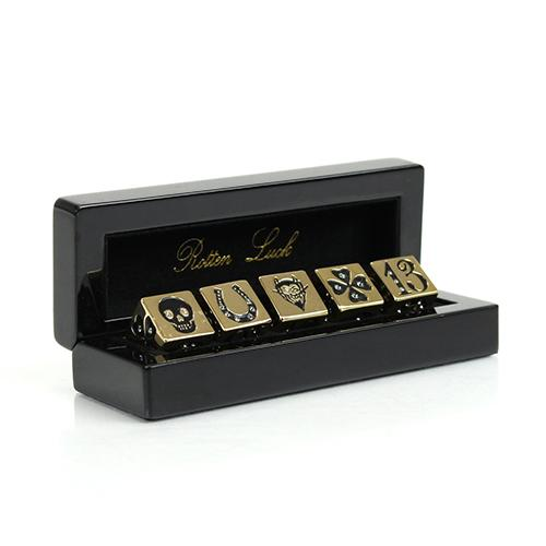 Rotten Luck Dice Set with Swarovski Crystals by DL & Company