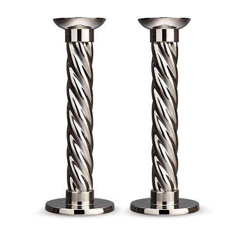 Carrousel Metal Candlesticks, Set of 2 by L'Objet