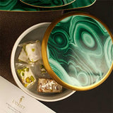 Malachite Round Box by L'Objet