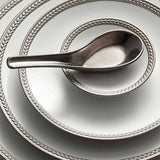 Soie Tressee Platinum Bread & Butter Plate by L'Objet