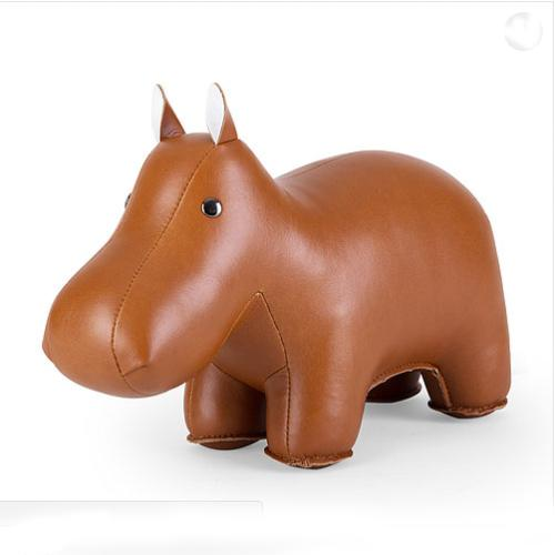 Classic Series Hippo Tan Bookend by Zuny