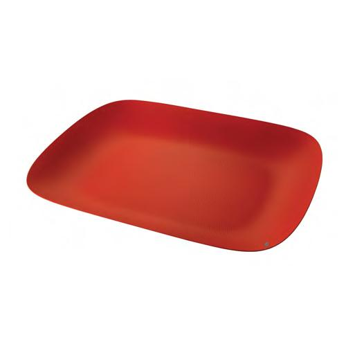Moire Serving Tray, Red or Black by Marcel Wanders for Alessi
