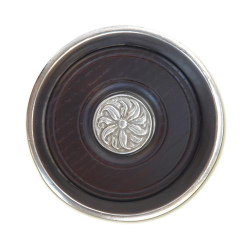 Bottle Coaster with Wood Insert by Match Pewter