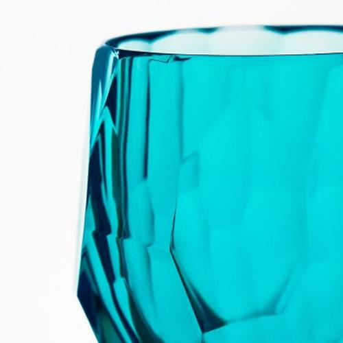 Super Milly Large Acrylic Tumbler 10 oz. Turquoise by Mario Luca Giusti