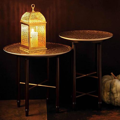 Fortuny Ashanti Coffee and Side Table by L'Objet