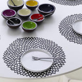 Chilewich: Dahlia Floral Pressed Vinyl Placemats Set of 4