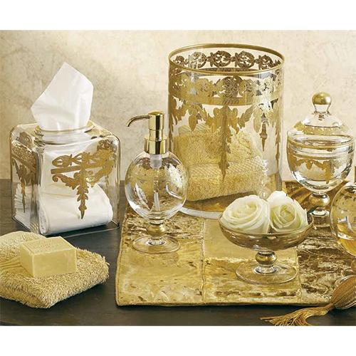 Baroque Gold Wastebasket by Arte Italica