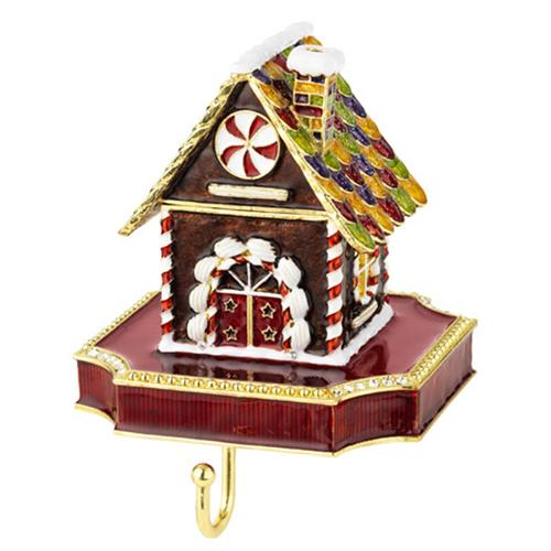Christmas Gingerbread House Box Stocking Holder by Olivia Riegel