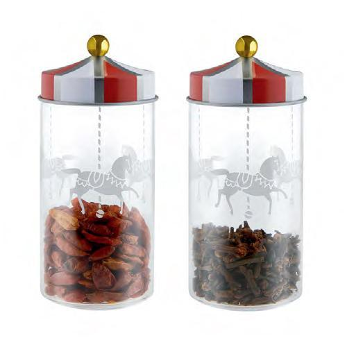 Circus Spice Jars, set of 2 by Marcel Wanders for Alessi
