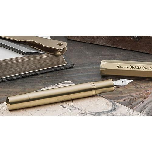 Brass Sport Fountain Pen by Kaweco