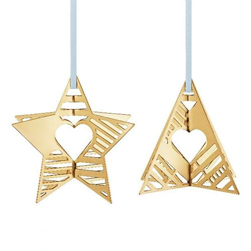 2019 Tree and Star Christmas Holiday Ornament by Sanne Lund Traberg for Georg Jensen