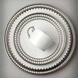 Perlee Platinum Oval Platter, Small by L'Objet