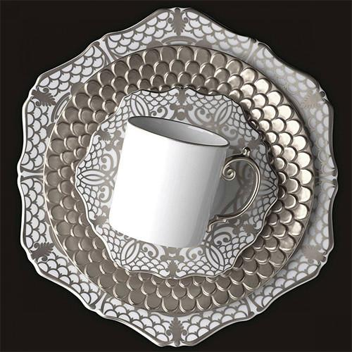 Alencon Platinum Bread & Butter Plate by L'Objet
