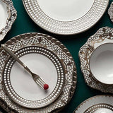 Perlee Platinum Soup Plate by L'Objet
