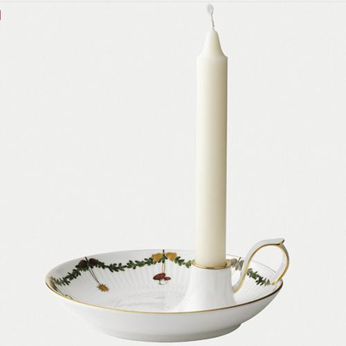 Star Fluted Christmas Candlestick by Royal Copenhagen